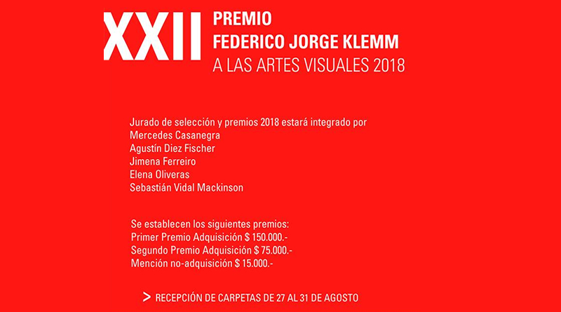 Convocatoria Premio Klemm 2018 artes visuales